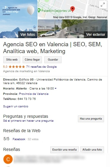 google my business agencia seo