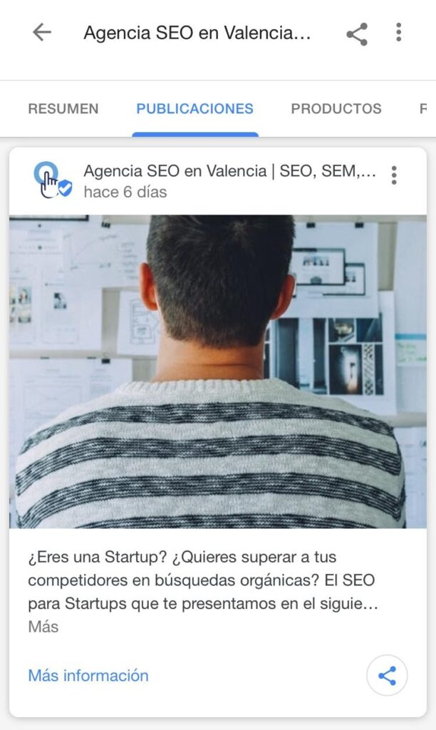 publicaciones google my business