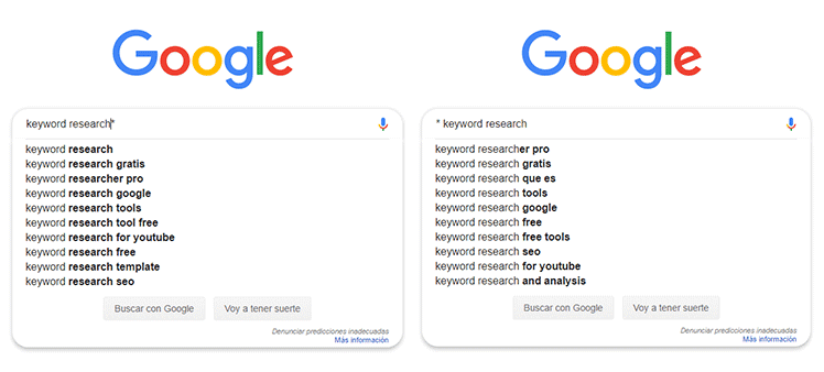 Google Instant for search keywords