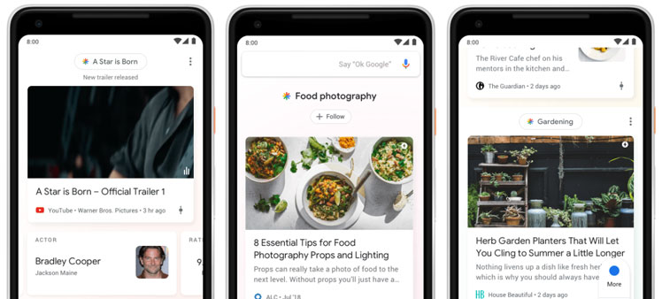 Google Discover main applications for users