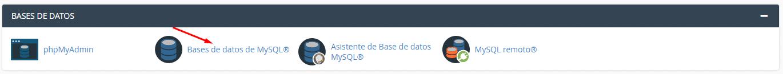 Creating a MySQL database