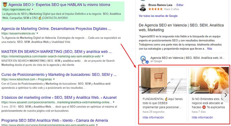 Crea publicaciones en Google My Business para promocionar contenidos, ofertas o productos