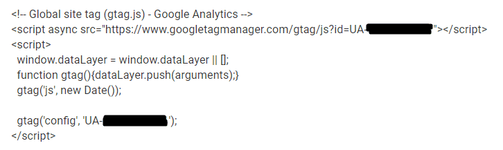 analytics código
