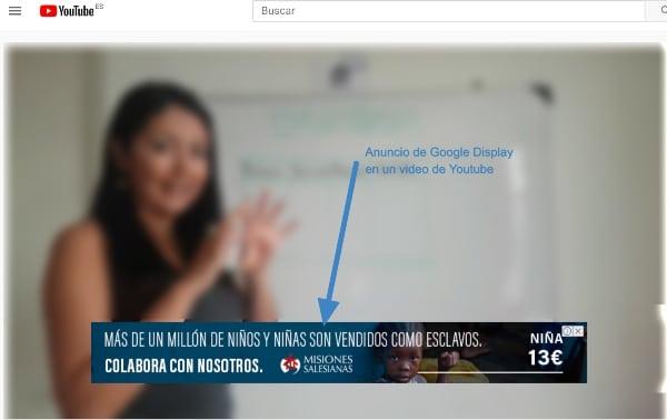 Anuncio Display en YouTube