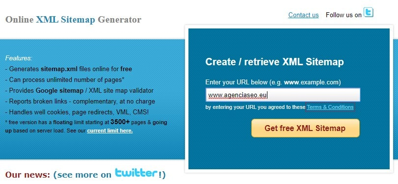 online xml sitemap generator
