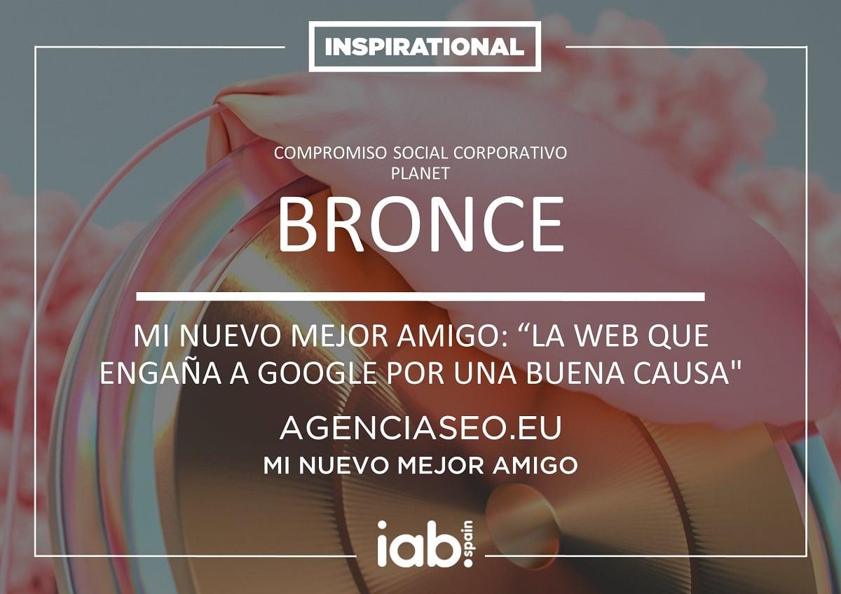 Diploma Premio Inspirational del IAB
