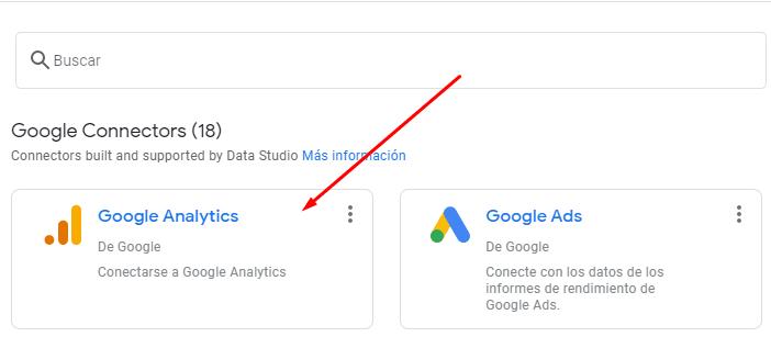 conectar google analytics a data studio