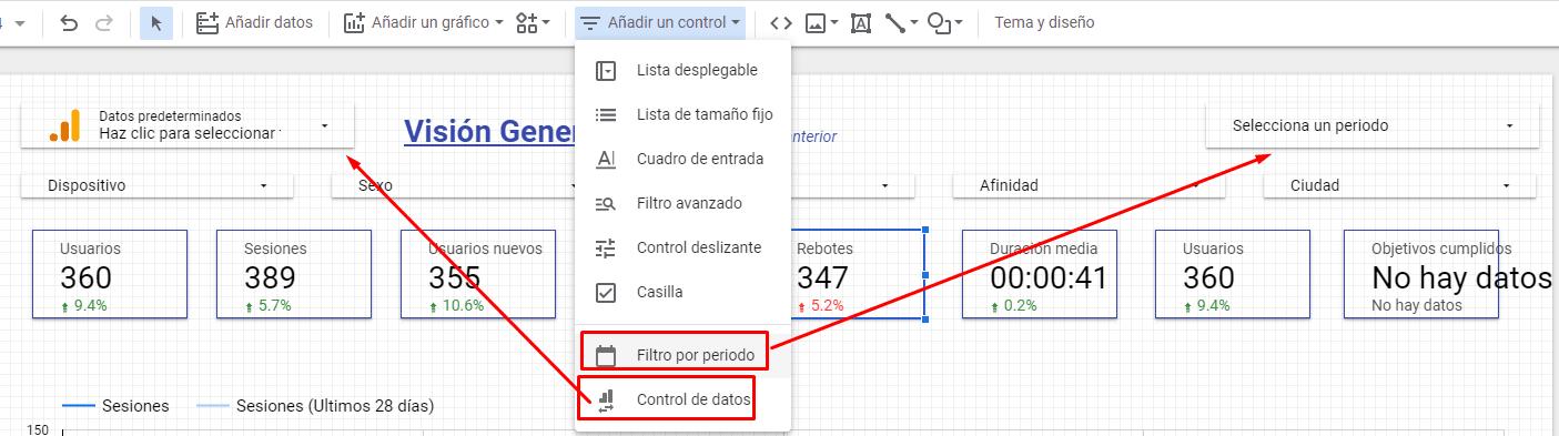 agregar filtro de datos por fechas