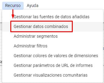 gestionar datos combinados